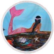 Magical Mystic Mermaid Round Beach Towel