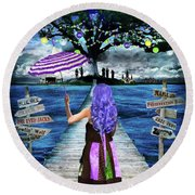 Magical New Orleans Round Beach Towel