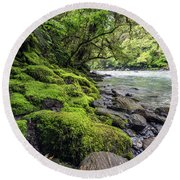 Magical New Zealand Round Beach Towel