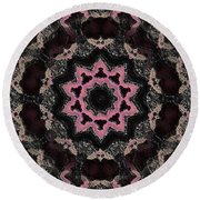 Magical Solar Flight In Pink Round Beach Towel