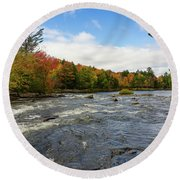 Magnetawan River In Fall Round Beach Towel