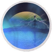 Magnetic Flux Round Beach Towel