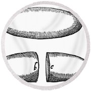 Magnets From De Magnete By W. Gilbert Round Beach Towel