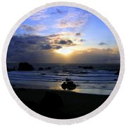 Magnificent Bandon Sunset Round Beach Towel