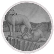 Magnificent Dingo Round Beach Towel