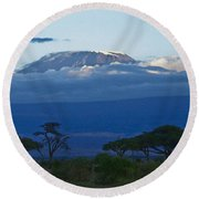 Magnificent Kilimanjaro Round Beach Towel