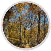Magnificent Maples Round Beach Towel
