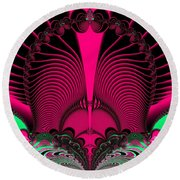 Magnificent Sunrise Reflections Fractal 119 Round Beach Towel