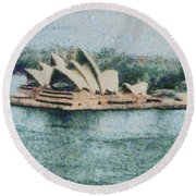 Magnificent Sydney Opera House Round Beach Towel