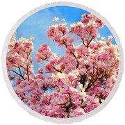 Magnolia Beauty #13 Round Beach Towel