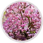 Magnolia Beauty #14 Round Beach Towel