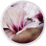 Magnolia Bloom  Round Beach Towel
