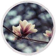 Magnolia Blossom 2 Round Beach Towel