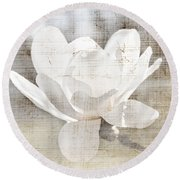 Magnolia Flower Round Beach Towel by Elena Elisseeva