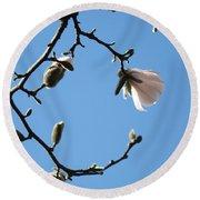 Magnolia Flowers Budding Art Prints Spring Floral Baslee Troutman Round Beach Towel