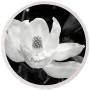 Magnolia Memories 3- By Linda Woods Round Beach Towel