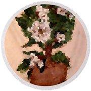 Magnolia Topiary IIi  Round Beach Towel