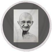 Mahatma Gandhi Round Beach Towel