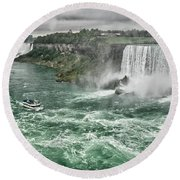 Maid Of The Mist 8971 Round Beach Towel