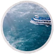Maid Of The Mist American Side  Round Beach Towel