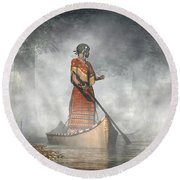 Maid Of The Mists Round Beach Towel