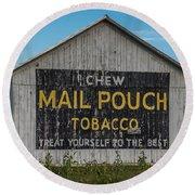 Mail Pouch Tobacco Barn Round Beach Towel