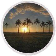 Maili Sunset Round Beach Towel
