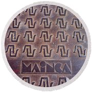 Mainca Round Beach Towel