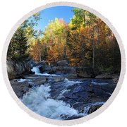 maine 38 Baxter State Park South Branch Stream Round Beach Towel