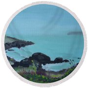 Maine Coast 1 Round Beach Towel