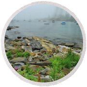 Maine Cove Round Beach Towel