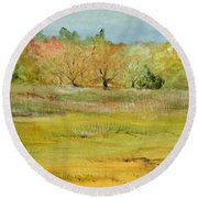 Maine Marsh Round Beach Towel