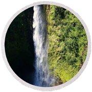 Majestic Akaka Falls Round Beach Towel