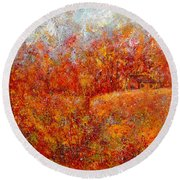Majestic Autumn Round Beach Towel