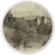 Majestic Biltmore Estate Round Beach Towel