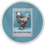 Majestic Brahma Silver Spangled Round Beach Towel