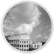 Majestic Colosseum Round Beach Towel