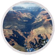 Majestic Grand Canyon Round Beach Towel