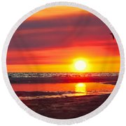 Majestic Moments Round Beach Towel