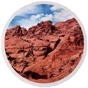 Majestic Red Rocks Round Beach Towel