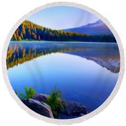 Majestic Reflection Round Beach Towel