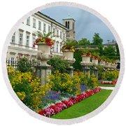 Majestic Salzburg Garden Round Beach Towel