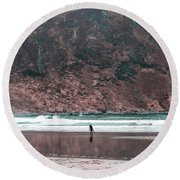 Majestic Surfer  Round Beach Towel