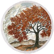 Majestic Tree Round Beach Towel