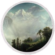 Majesty Of The Mountains Round Beach Towel