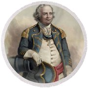 Major General Israel Putnam Round Beach Towel