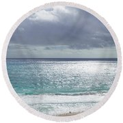 Makapuu Beach Oahu Hawaii Round Beach Towel