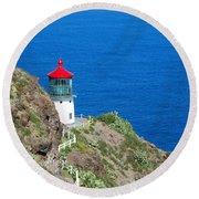 Makapu'u Lighthouse Round Beach Towel