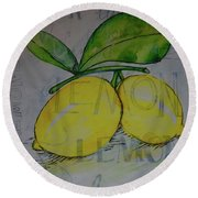Make Lemonade Round Beach Towel