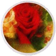 Make Mine Roses Please Too Round Beach Towel